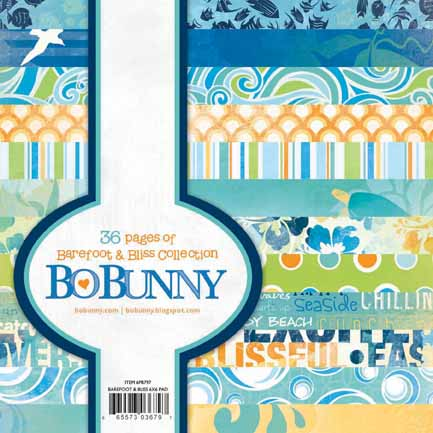 "Bo Bunny Barefoot & Bliss 6"" Paper Pad"