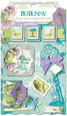 Bo Bunny Enchanted Garden Layered Chipboard