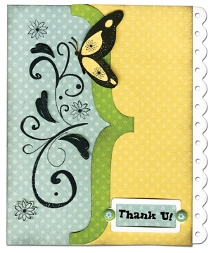 Bo Bunny Flutter Butter sample card