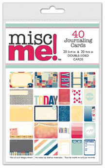 Bo Bunny Modern Miss Misc Me Journaling Cards