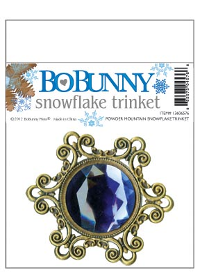 Bo Bunny Powder Mountain Trinket