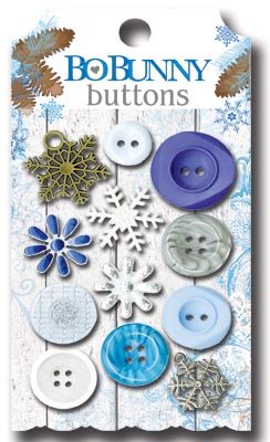 Bo Bunny Powder Mountain Buttons
