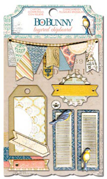Bo Bunny The Avenues Layered Chipboard