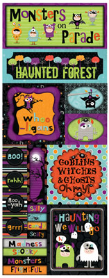 Bo Bunny Whoo-ligans Monsters On Parade Cardstock Sticker