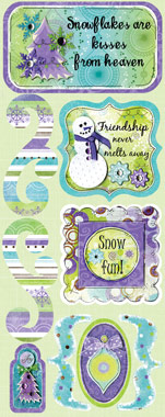 Bo Bunny Winter Joy Winter Whimsy Cardstock Sticker