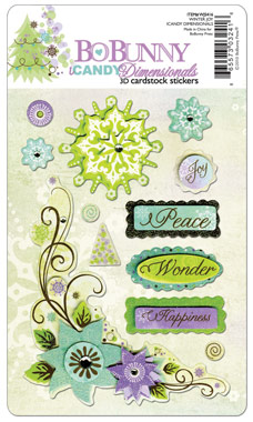 Bo Bunny Winter Joy iCandy Dimensional Sticker