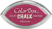 Clearsnap ColorBox Fluid Chalk Cat's Eye Ink Maroon