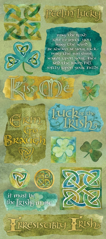 Creative Imaginations Emerald Isle Jumbo CS Sticker