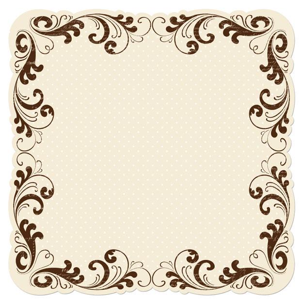 Fancy Paper Borders Sepia scroll die-cut paper