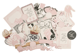 Kaisercraft Pitter Patter Collectables Die-cuts Girl