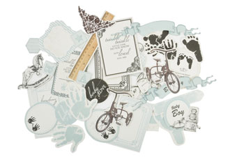Kaisercraft Pitter Patter Collectables Die-cuts Boy