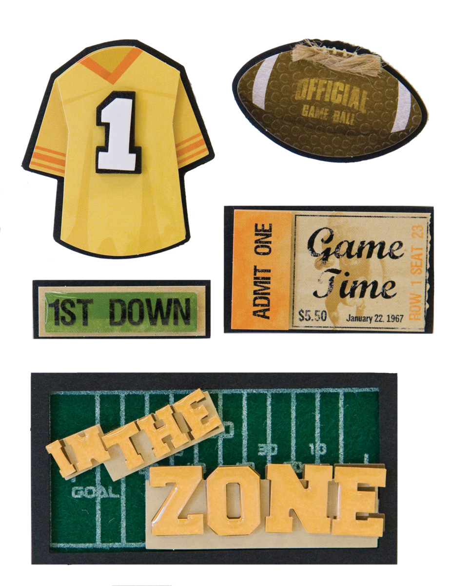 Karen Foster Football In The Zone Stacked Stickers