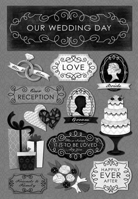 Karen Foster Our Wedding Story Happily Ever After Sticker