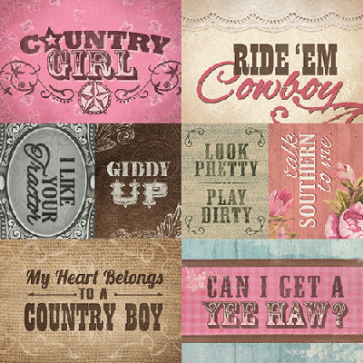 Paper House Productions Country Girl Tags