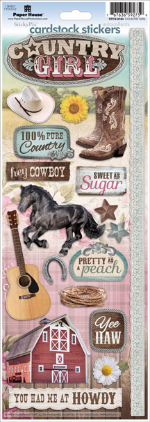 Paper House Productions Country Girl Sticker