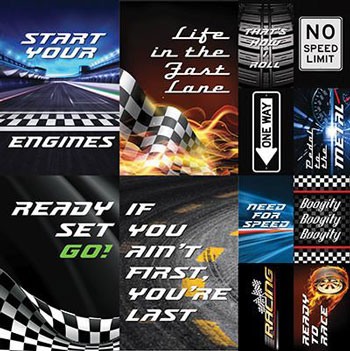 Reminisce Checkered Flag 12x12 Poster Sticker