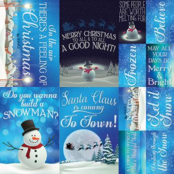 Reminisce Christmas Town 12x12 Poster Sticker