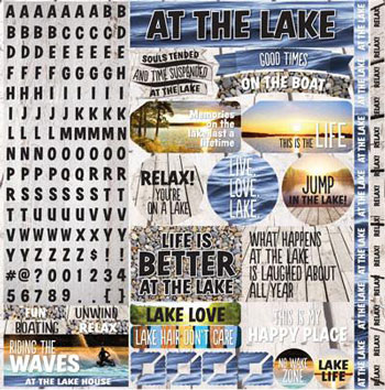 Reminisce Lake Life 12x12 Alpha Sticker