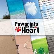 Reminisce Pawprints On My Heart logo