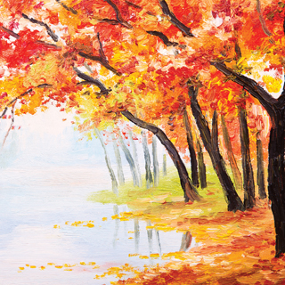 Reminisce Watercolor Fall Autumn Enchantment