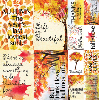 Reminisce Watercolor Fall 12x12 Poster Sticker
